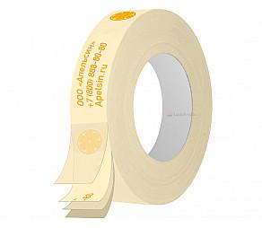 Бумажный скотч с логотипом 24мм