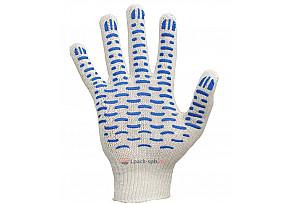 Перчатки 3 Нити, 10 класс Х/Б+ПВХ Волна