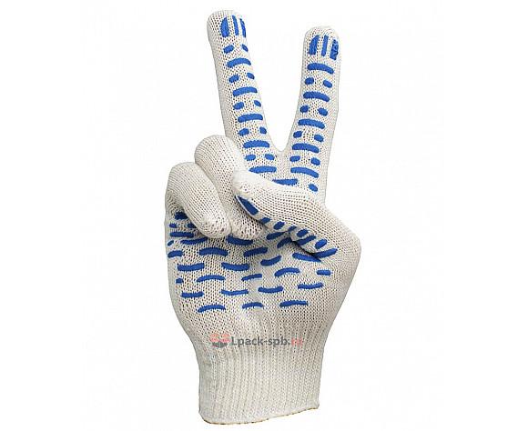 Тонкие рабочие перчатки хб белые