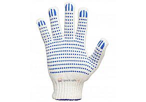 Перчатки 4 Нити, 7,5 класс Х/Б + ПВХ