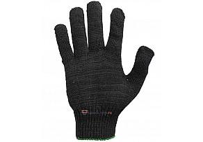 Перчатки 5 Нитей, 10 класс Х/Б - Черные