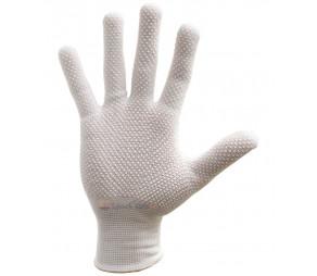 Перчатки нейлоновые микроточка белые