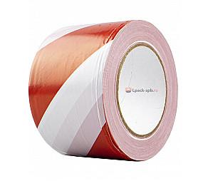 Оградительная лента ПВД 75мм*200м красно-белая