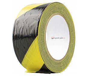 Оградительная лента ПВД 50мм*200м желто-черная 40мкм